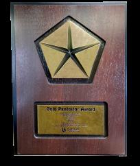 Gold-Pentastar-Award